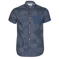 Textil Muži Košile s krátkými rukávy Deeluxe ETHNIC Tmavě modrá