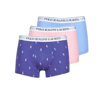 Spodní prádlo  Muži Boxerky Polo Ralph Lauren CLASSIC TRUNK X3 Růžová / Modrá / Tmavě modrá