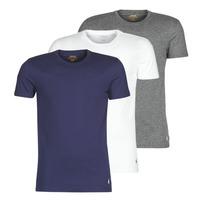 Textil Muži Trička s krátkým rukávem Polo Ralph Lauren SS CREW NECK X3 Tmavě modrá / Šedá / Bílá