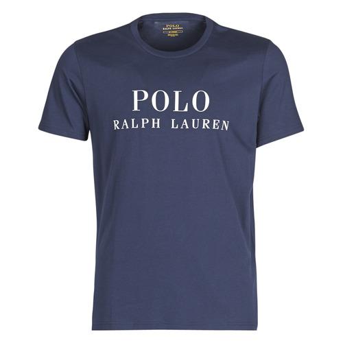 Textil Muži Trička s krátkým rukávem Polo Ralph Lauren SS CREW Tmavě modrá