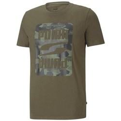 Textil Muži Trička s krátkým rukávem Puma Rebel Camo Graphic Tee Zelené