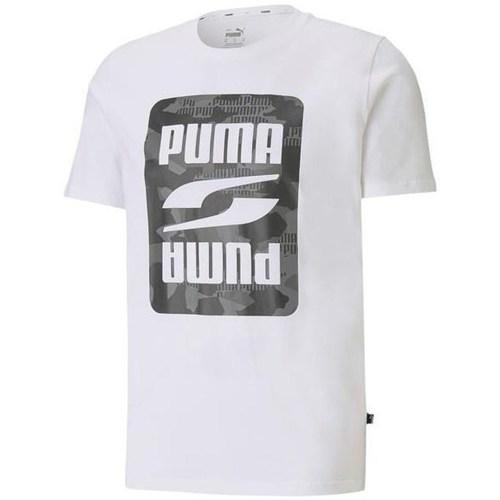 Textil Muži Trička s krátkým rukávem Puma Rebel Camo Graphic Tee Bílé