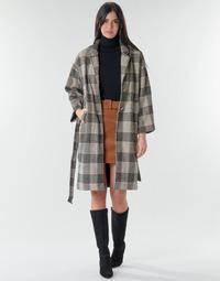 Textil Ženy Kabáty Betty London NIOULOOK Černá / Béžová