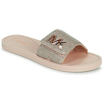 Boty Ženy pantofle MICHAEL Michael Kors MK SLIDE Růžová / Zlatá
