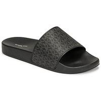 Boty Muži pantofle MICHAEL Michael Kors JAKE SLIDE Černá
