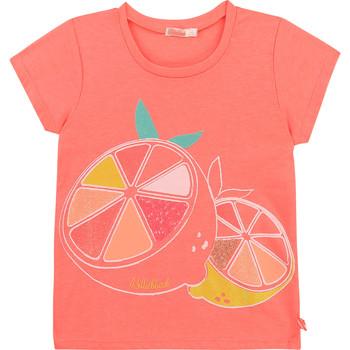 Textil Dívčí Trička s krátkým rukávem Billieblush / Billybandit U15864-499 Růžová