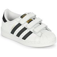 Boty Děti Nízké tenisky adidas Originals SUPERSTAR CF I Bílá / Černá