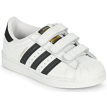 Boty Děti Nízké tenisky adidas Originals SUPERSTAR CF C Bílá / Černá
