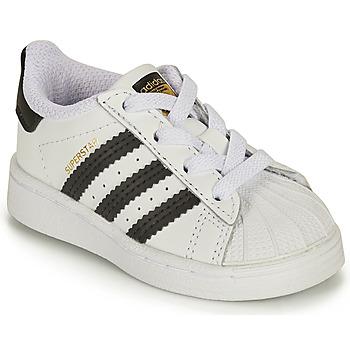 Boty Děti Nízké tenisky adidas Originals SUPERSTAR EL I Bílá / Černá