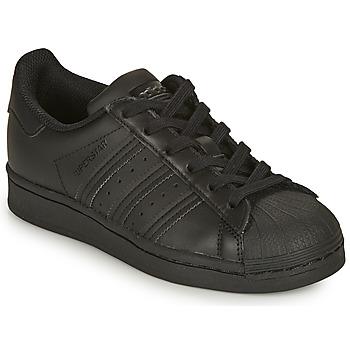 Boty Děti Nízké tenisky adidas Originals SUPERSTAR J Černá