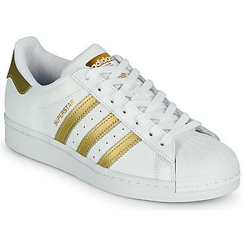 Boty Ženy Nízké tenisky adidas Originals SUPERSTAR W Bílá / Zlatá