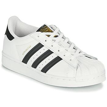 Boty Děti Nízké tenisky adidas Originals SUPERSTAR C Bílá / Černá