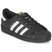 Boty Děti Nízké tenisky adidas Originals SUPERSTAR C Černá / Bílá
