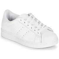 Boty Děti Nízké tenisky adidas Originals SUPERSTAR C Bílá