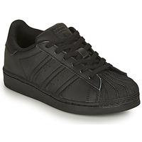 Boty Děti Nízké tenisky adidas Originals SUPERSTAR C Černá