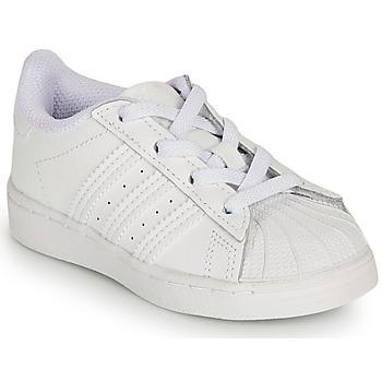 Boty Dívčí Nízké tenisky adidas Originals SUPERSTAR EL I Bílá