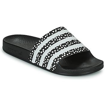 Boty Ženy pantofle adidas Originals ADILETTE W Černá / Bílá
