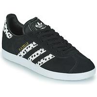 Boty Ženy Nízké tenisky adidas Originals GAZELLE W Černá / Bílá