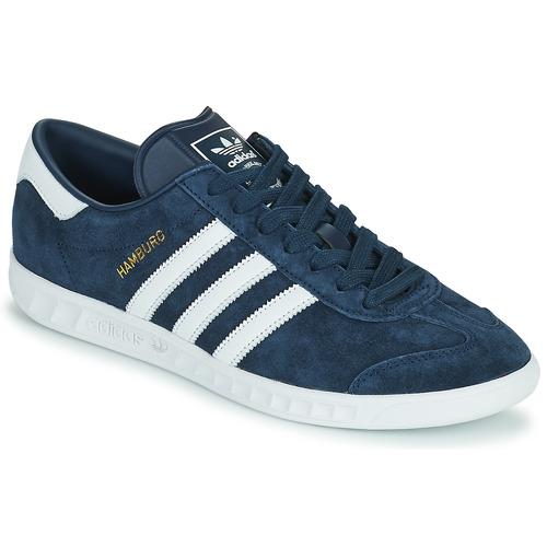 Boty Muži Nízké tenisky adidas Originals HAMBURG Tmavě modrá