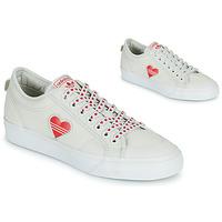 Boty Ženy Nízké tenisky adidas Originals NIZZA  TREFOIL W Bílá / Červená