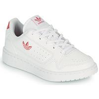 Boty Děti Nízké tenisky adidas Originals NY 92 C Bílá / Růžová