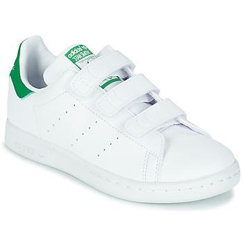 Boty Děti Nízké tenisky adidas Originals STAN SMITH CF C SUSTAINABLE Bílá / Zelená / Přírodní