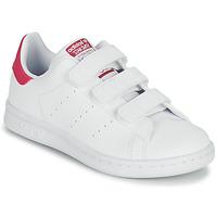 Boty Dívčí Nízké tenisky adidas Originals STAN SMITH CF C SUSTAINABLE Bílá / Růžová