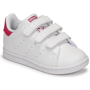 Boty Dívčí Nízké tenisky adidas Originals STAN SMITH CF I SUSTAINABLE Bílá / Růžová