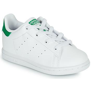 Boty Děti Nízké tenisky adidas Originals STAN SMITH EL I SUSTAINABLE Bílá / Zelená