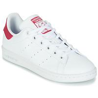 Boty Dívčí Nízké tenisky adidas Originals STAN SMITH J SUSTAINABLE Bílá / Růžová