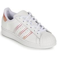 Boty Dívčí Nízké tenisky adidas Originals SUPERSTAR J Bílá