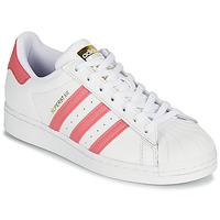 Boty Ženy Nízké tenisky adidas Originals SUPERSTAR W Bílá / Růžová