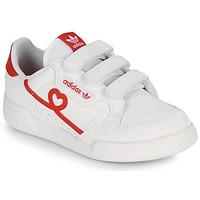 Boty Dívčí Nízké tenisky adidas Originals CONTINENTAL 80 CF C Bílá / Červená