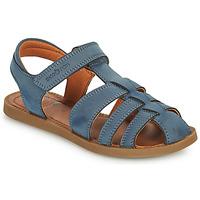 Boty Chlapecké Sandály Shoo Pom SOLAR TONTON Modrá