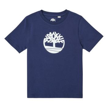 Textil Chlapecké Trička s krátkým rukávem Timberland TRISTA Modrá