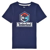 Textil Chlapecké Trička s krátkým rukávem Timberland GRISS Tmavě modrá