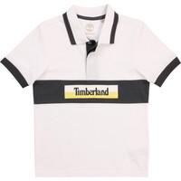 Textil Chlapecké Polo s krátkými rukávy Timberland DOTTO Bílá