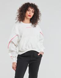 Textil Ženy Mikiny Converse BLOCKED ALTERRAIN CREW Bílá