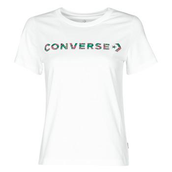 Textil Ženy Trička s krátkým rukávem Converse CENTER FRONT ICON CLASSIC TEE Bílá
