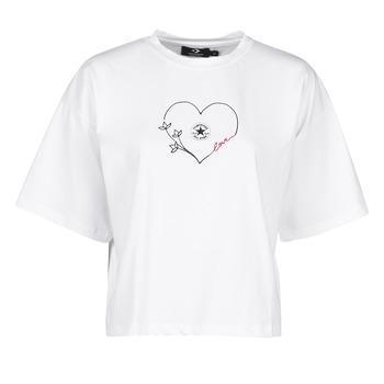 Textil Ženy Trička s krátkým rukávem Converse CHUCK WOMENS LOVE BOXY TEE Bílá