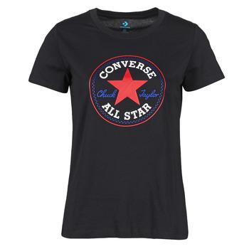 Textil Ženy Trička s krátkým rukávem Converse CHUCK PATCH NOVA TEE Černá