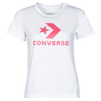 Textil Ženy Trička s krátkým rukávem Converse STAR CHEVRON CENTER FRONT TEE Bílá