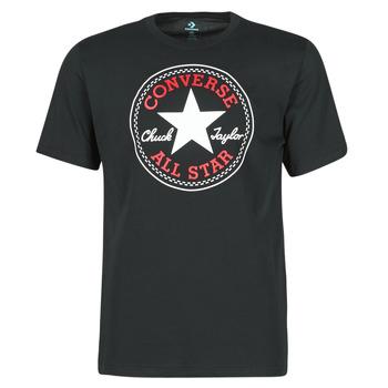 Textil Muži Trička s krátkým rukávem Converse NOVA CHUCK PATCH TEE Černá