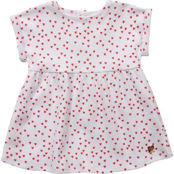 Textil Dívčí Krátké šaty Carrément Beau Y92119-10B Bílá