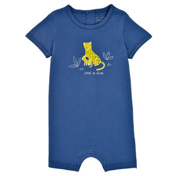 Textil Chlapecké Overaly / Kalhoty s laclem Carrément Beau Y94205-827 Modrá