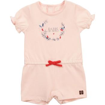 Textil Dívčí Overaly / Kalhoty s laclem Carrément Beau Y94234-44L Růžová