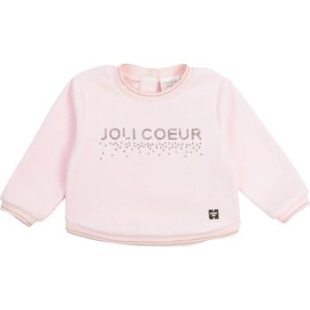 Textil Dívčí Mikiny Carrément Beau Y95254-44L Růžová