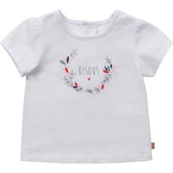 Textil Dívčí Trička s krátkým rukávem Carrément Beau Y95270-10B Bílá