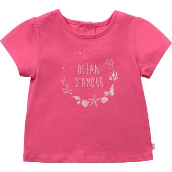 Textil Dívčí Trička s krátkým rukávem Carrément Beau Y95270-46C Růžová