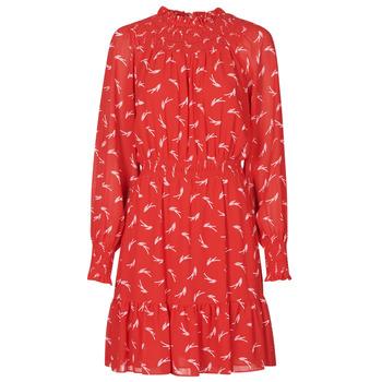 Textil Ženy Krátké šaty MICHAEL Michael Kors SIGNATRE LOGO SMCK DR Červená